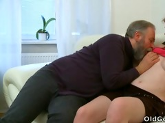 maria lets an old lad fuck her and then acquires