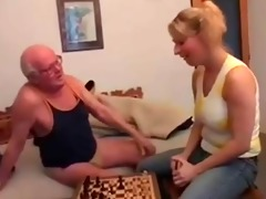 old man plays chess and bonks a young girl