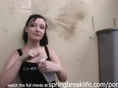 goth gal fingers herself in public