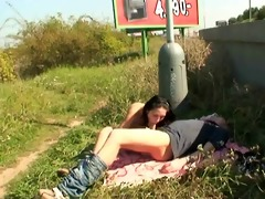 nasty pair public sex roadside