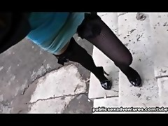 cock-hungry dark brown in public sex