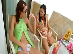 two juvenile brunettes masturbate jointly