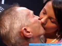 sexually excited old dude is fucking a charming
