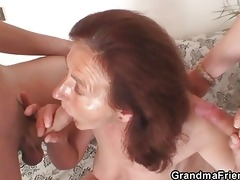 old wench painted undressed and drilled hard by