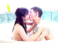 steamy sexy bathtub fucking