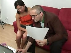appealing cutie pleasures her old slavemaster