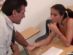 wicked schoolgirl desires her teachers cum