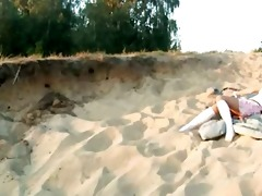 small 110 years old playgirl loly on beach