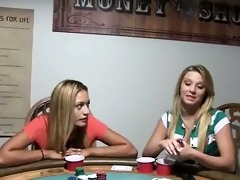 youthful babysitters fucking on poker night