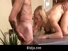 hawt old juvenile three-some fuck