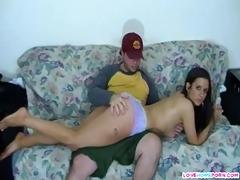 nasty gf got her hawt wazoo spanked