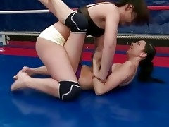 wild youthful brunette hair fighting