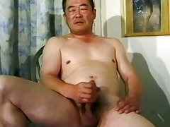 old oriental guy wanking his shlong untill cumming