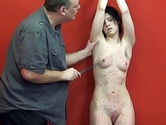 youthful slavegirl kami whipped to tears and