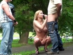 public sex three-some with marvelous in nature