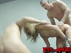 incredible and coarse double anal scene taking