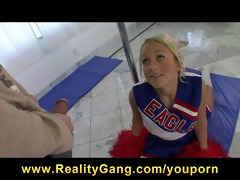 hawt youthful big-tit golden-haired cheerleader
