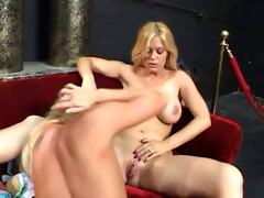 youthful blonde chick fucking old fellow
