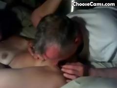granddad giving grandma great oral-stimulation sex