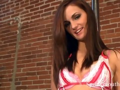 young stripper lily carter pole dances for a cum