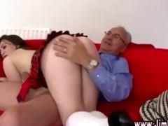 aged boy spanks nasty schoolgirl