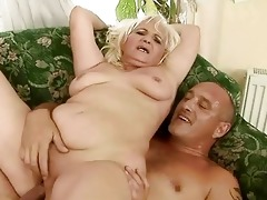 naughty obese grandma having sex with old boy