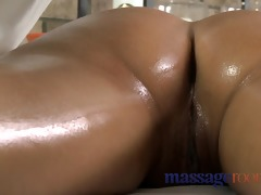 massage rooms beautiful juvenile gal enjoys big o