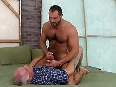 hawt old stud is swallowing unfathomable a men