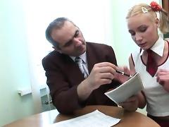teacher is getting juicy oral-stimulation