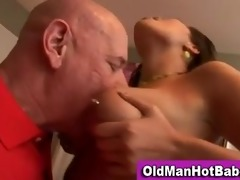 old lad orall-service by hawt younger playgirl