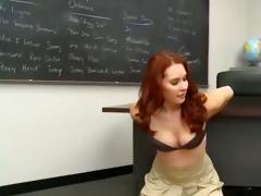 tutor copulates a smart juvenile student