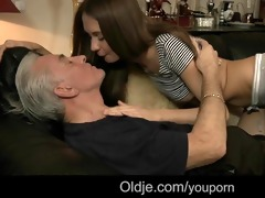 old guy visit to ally ends with fucking juvenile