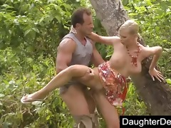 daddy daughter outdoor