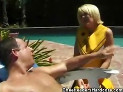 cheerleader sweetie receives laid