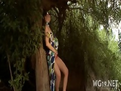 angel fondles enchanting hole