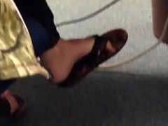 candid legal age teenager flip flop shoeplay