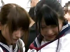 juvenile schoolgirl groped in a subway