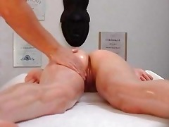 czech massage youthful constricted cutie receives