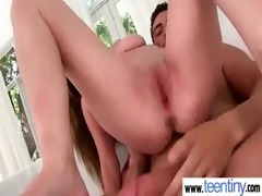 tiny legal age teenager girl vs a monster jock 611