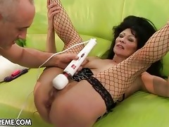 perverted old lady gets fucked hard