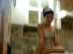 legal age teenager russian pair kitchen sex