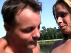 breasty youthful leila acquires screwed outdoors