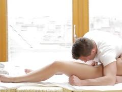 nubile films - fleshly massage turns to hawt fuck