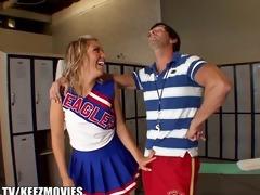 trainer bonks young cheerleader