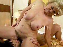 grandma and juvenile cutie making love
