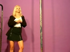 golden-haired playgirl exotic dancing - julia
