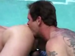 daddy bonks younger in pool