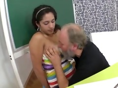 her tricky old teacher copulates her shaved legal