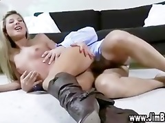 blond cutie playing with toy