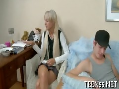 breasty legal age teenager gets a hard ride